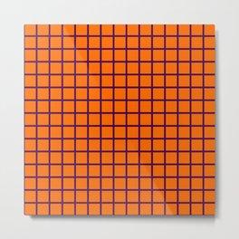 Purple On Orange Grid Metal Print