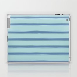 Cobalt blue french striped Laptop & iPad Skin