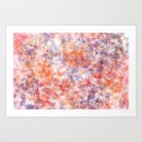 sprinkles Art Prints featuring Sprinkles by Flavia Dacol