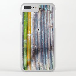 Bamboo Cave Clear iPhone Case
