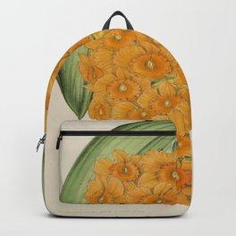 Dendrobium Densiflorum Vintage Botanical Floral Flower Plant Scientific Illustration Backpack