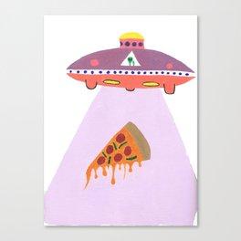 Pizza Alien Canvas Print