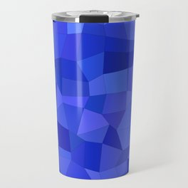 Blue mosaic tiles Travel Mug