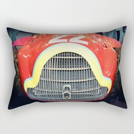 The Woman in Red Rectangular Pillow