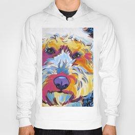 Goldendoodle or Labradoodle Pop Art Dog Portrait Hoody