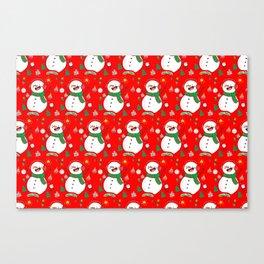 Christmas Pattern Art Canvas Print