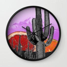 Citrus Desert Wall Clock