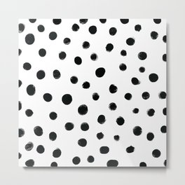 Black dots in white background Metal Print