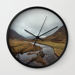Broken Bridge Valley Mist Wall Clock