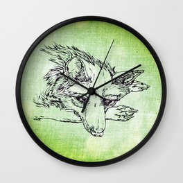 NV: Keer: green  Wall Clock