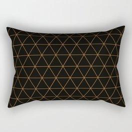 Triangles of Copper Rectangular Pillow