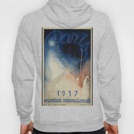 Paris 1937 01 - Vintage Poster Hoody
