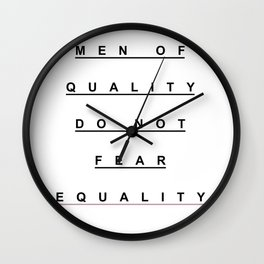 MEN OF QUALITY Wall Clock