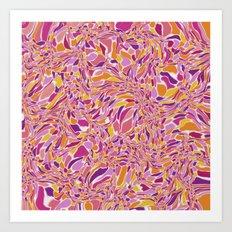 Trippy-Fiesta colorway Art Print
