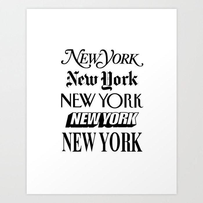 I Heart New York City Black and White New York Poster I Love NYC Design black-white home wall decor Kunstdrucke