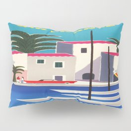 Vintage poster - French Riviera Pillow Sham