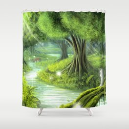 Forest Spirits Shower Curtain