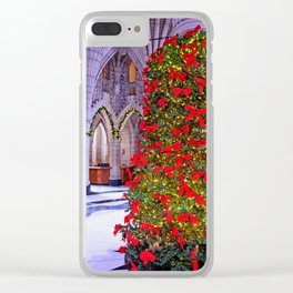 Christmas at the Parliament Clear iPhone Case