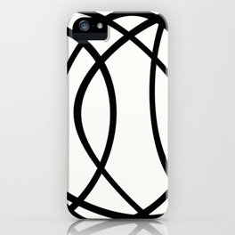 Community - Black and white abstract iPhone Case
