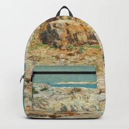 A North East Headland Oil Painting by Childe Hassam Backpack