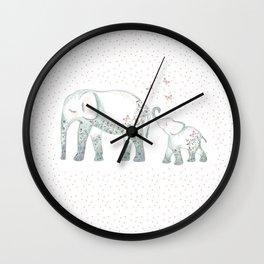 Mummy and me elephant x Wall Clock