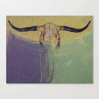 bull Canvas Prints featuring Bull by Michael Creese