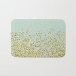 Golden ombre - icy mint Bath Mat