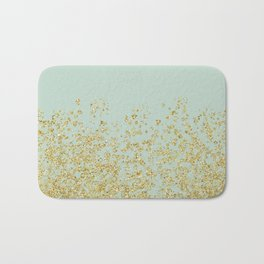 Golden ombre - icy mint Bath Mat