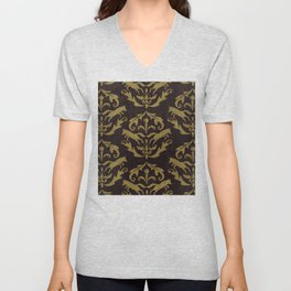 Fox Damask Unisex V-Neck