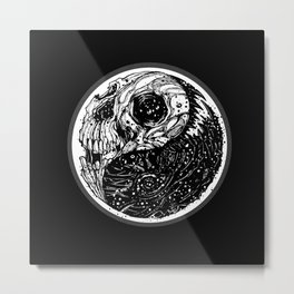 yin yang (evil and evil) - 2014 Metal Print