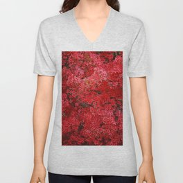 Charming Red Flower Unisex V-Neck