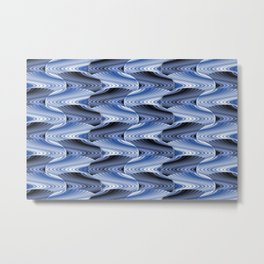 texture surface scales blue shades Metal Print