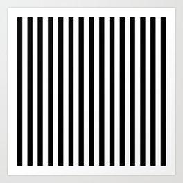 Stripe Black And White Vertical Line Bold Minimalism Stripes Lines Art Print