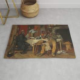 A Pastoral Visit, by Richard Norris Brooke, 1881 . An African American family Rug