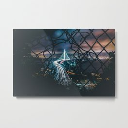 City trough fence Metal Print