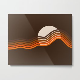 Sundown Stripes Metal Print
