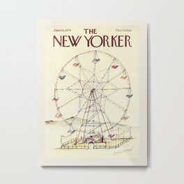 """Cover of """" The new Yorker"""" magazine. Jan. 26 1978. Metal Print"""