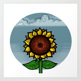 kitschy sunflower Art Print