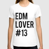 edm T-shirts featuring EDM Lover #13  by DropBass