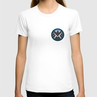 shield T-shirts featuring Shield by livinginamovie