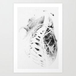 The Vicious Inverse Heart Art Print