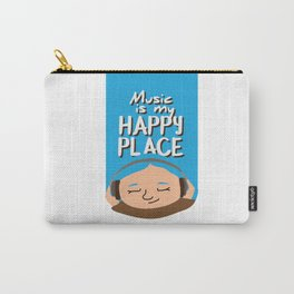 Music is my happy place - Blue Carry-All Pouch