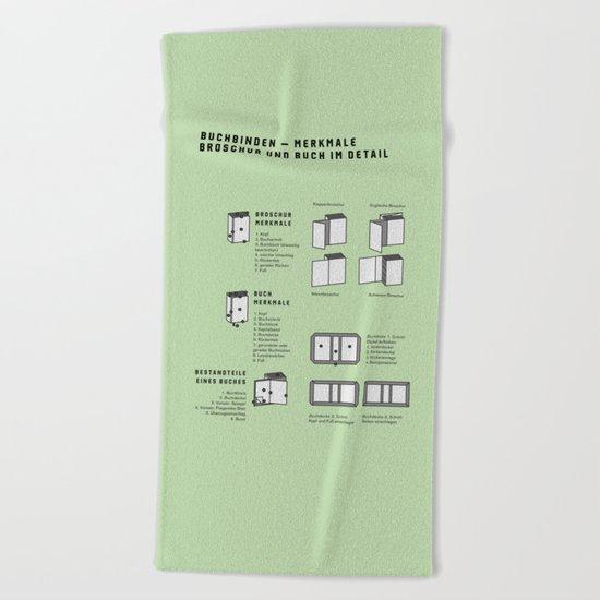 Buchbinden – Merkmale Broschur und Buch im Detail (in German) Beach Towel
