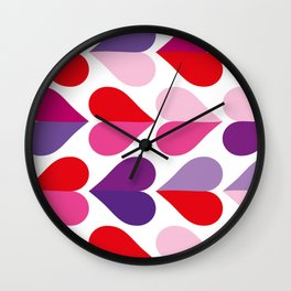 Love and Kisses in Ultra Violet Wall Clock