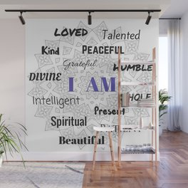 I AM... Positive Affirmation Wall Mural
