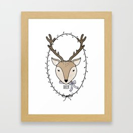 Delightful Deer Framed Art Print