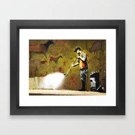Banksy, Cave Paintings Framed Art Print