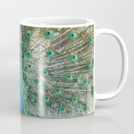 Peeking Peacock Coffee Mug