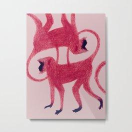 Red Monkeys Metal Print