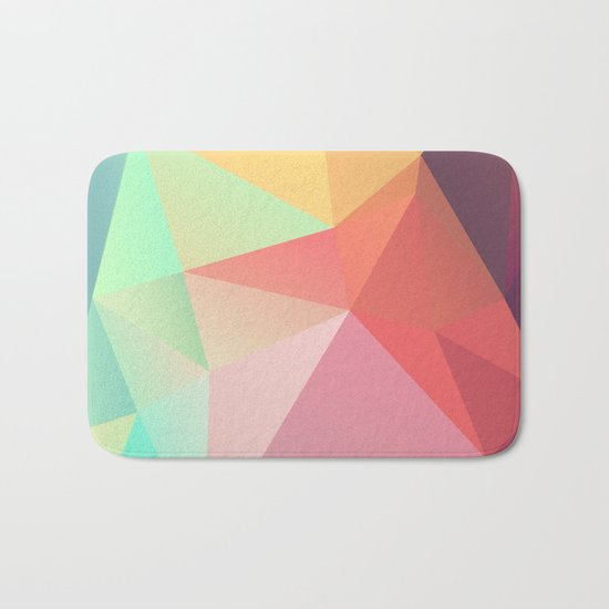 geometric V Bath Mat